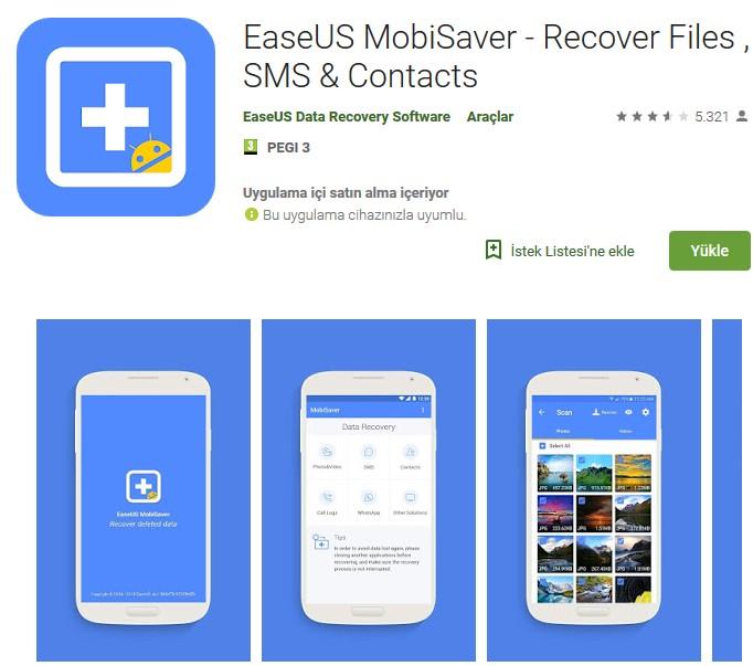 Android için Silinen Dosyaları Geri Getirme uygulama indir 1