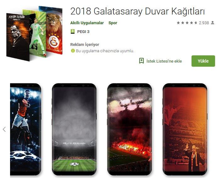 2018 Galatasaray Duvar Kağıtları uygulama indir - Android 1