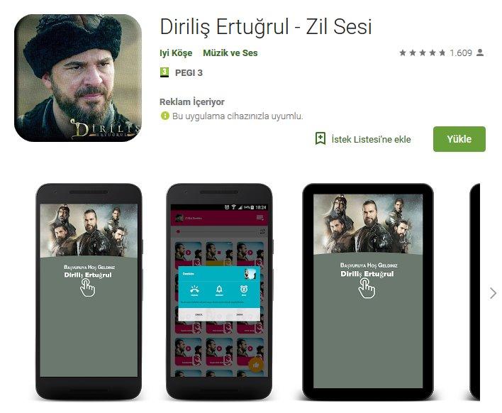 Diriliş Ertuğrul Zil Sesleri Uygulama (Android) 4