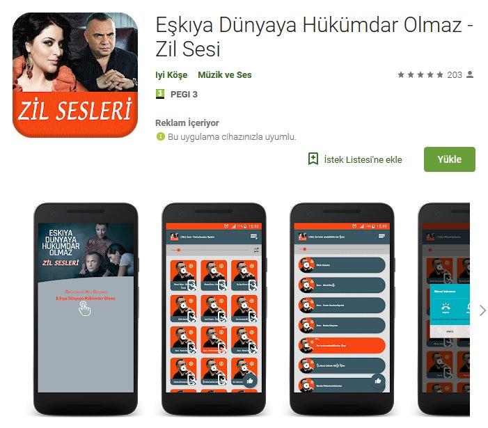 Eşkiya Dünyaya Hükümdar Olmaz Zil Sesleri indir (Android) 1