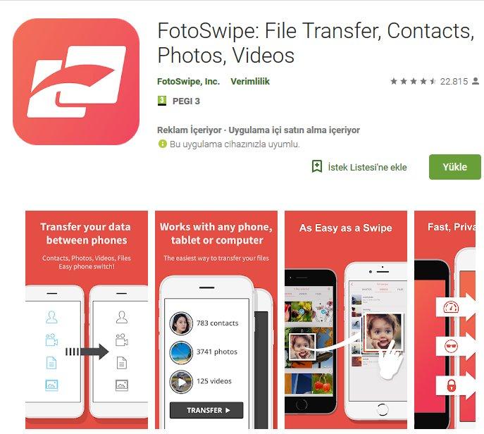 FotoSwipe indir | Dosya, Rehber, Fotoğraf ve Video Transfer Aracı 1