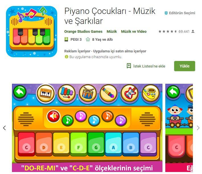 Piyano Çocukları - Müzik ve Şarkılar indir (Android) 4