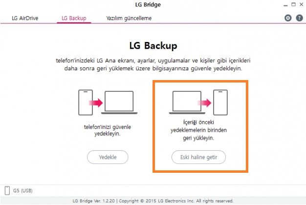 LG Bridge nasıl kullanılır? 18
