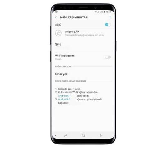 Samsung Galaxy S10 internet paylaşma | Hotspot Ayarları 1
