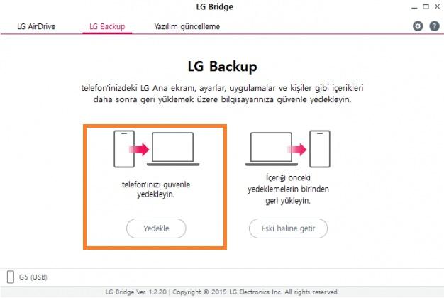 LG Bridge nasıl kullanılır? 17