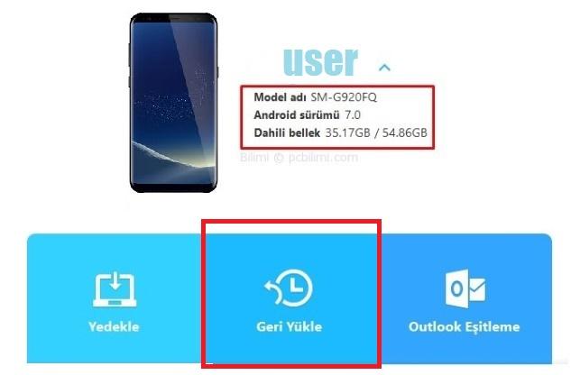 Samsung Galaxy Geri Yükleme ve Yedekleme - Tüm Modeller 6