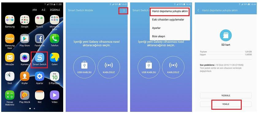 Samsung Galaxy Geri Yükleme ve Yedekleme - Tüm Modeller 3