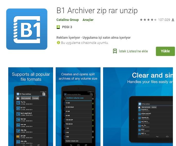 Android için en iyi sıkıştırma (RAR) uygulamaları 2