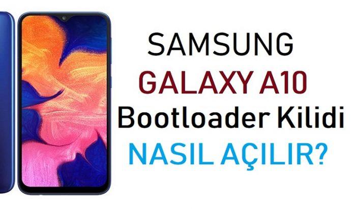Galaxy A10 bootloader kilidi açma