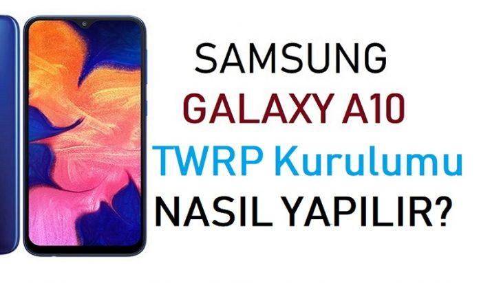 Galaxy A10 TWRP kurulumu