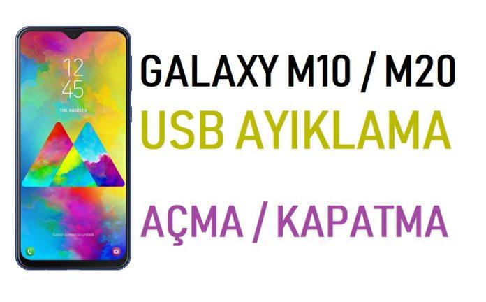 Galaxy M10, M20 USB Hata ayıklama nasıl açılır?