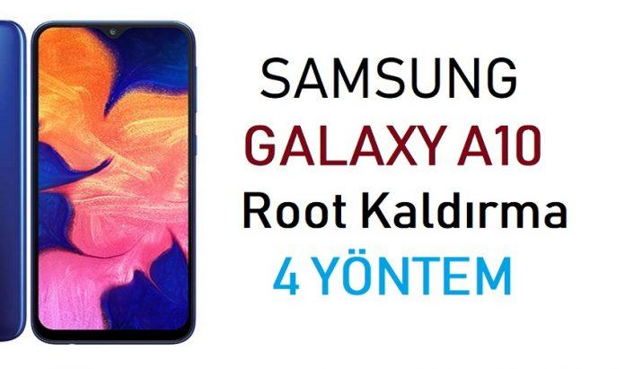 Galaxy A10 Root Kaldırma