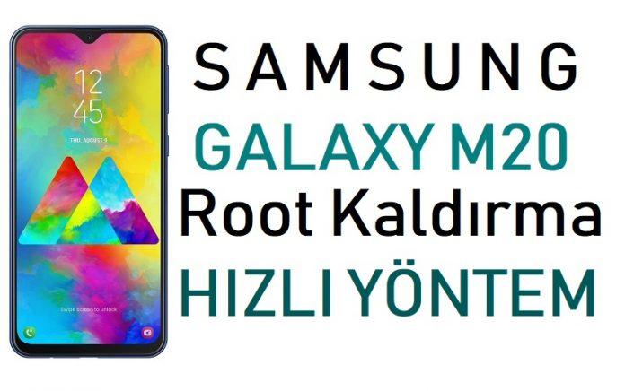Galaxy M20 Root Kaldırma