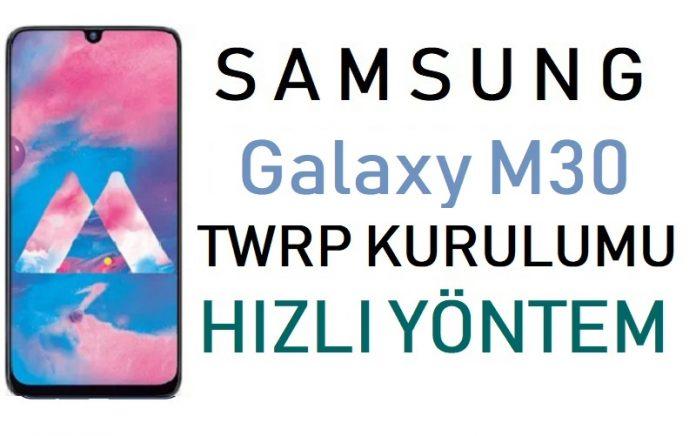 Galaxy M30 TWRP kurulumu