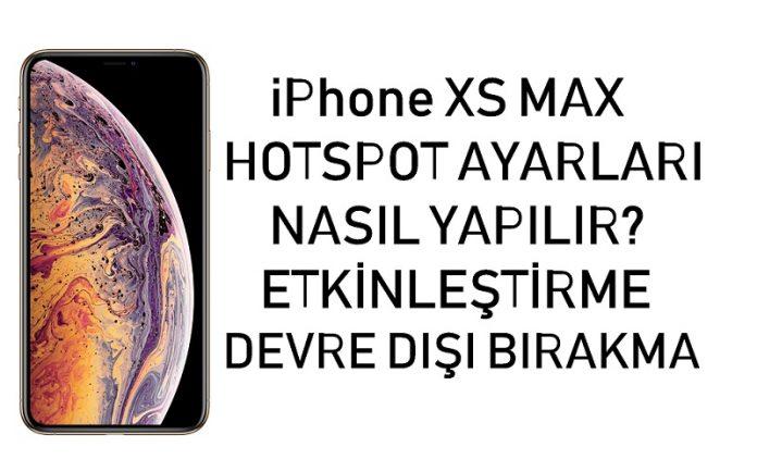 iPhone XS Max hotspot ayarları