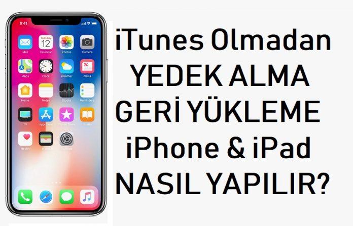 iTunes olmadan Yedek Alma