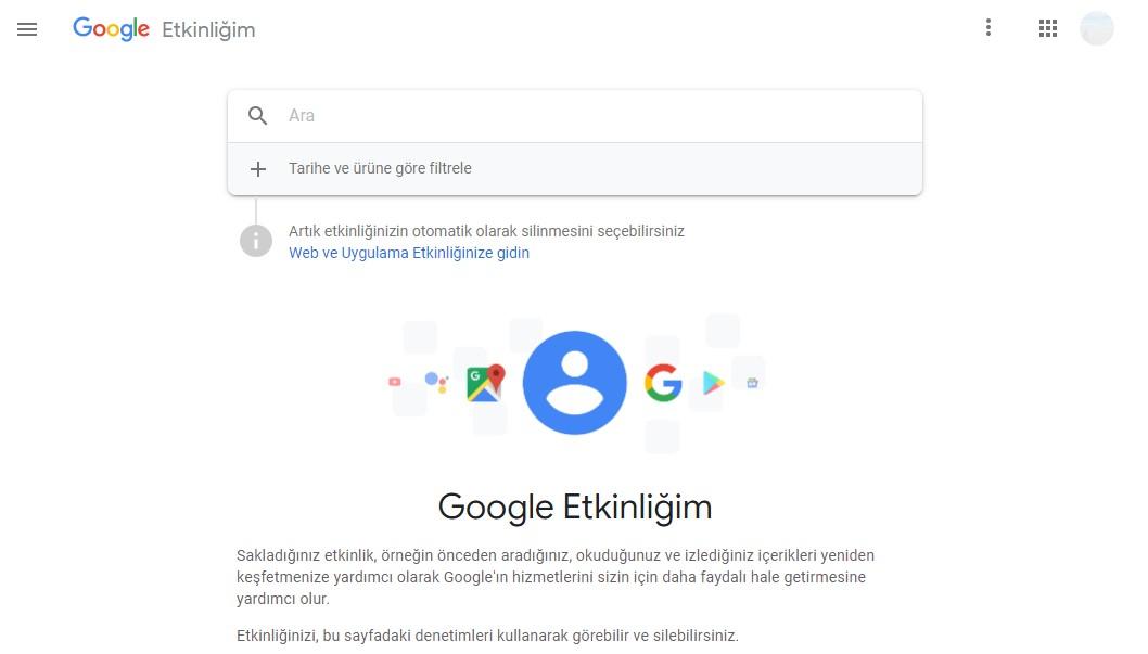 google geçmiş