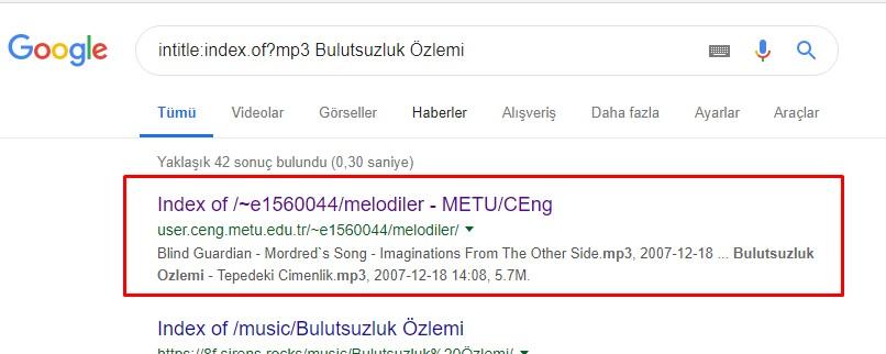 Google Mp3 arama
