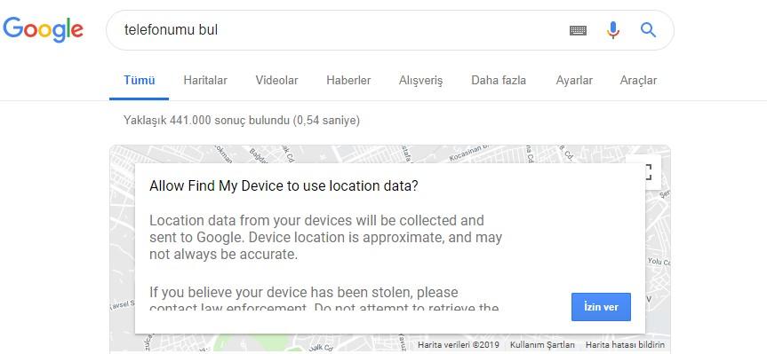 google telefon bulma