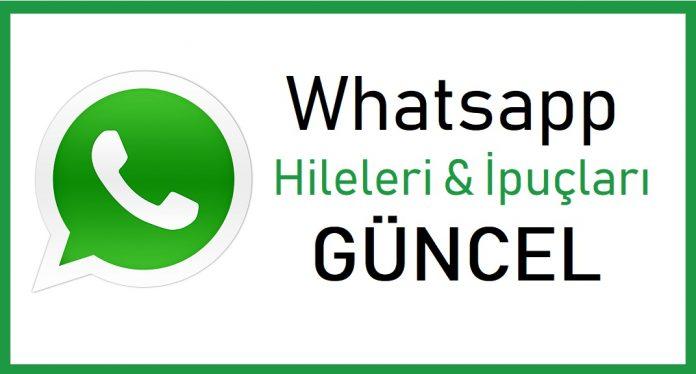 Whatsapp hileleri ve ipuçları