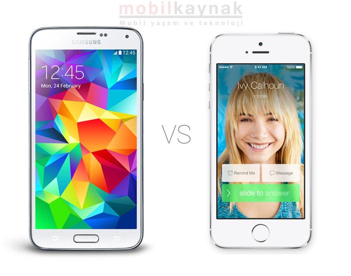 Galaxy-S5-vs-iPhone-5S karşılaştırma