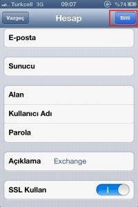 exchange mail resimli anlatım iphone