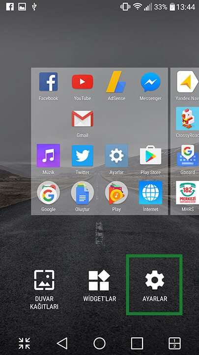 Android ana ekran nasıl yatay yapılır? 2