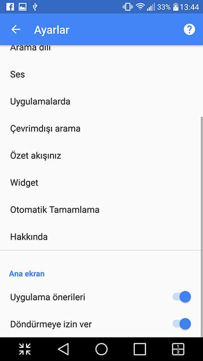Android ana ekran nasıl yatay yapılır? 9