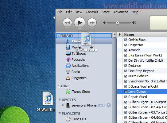 apple zil sesi formatı müzik