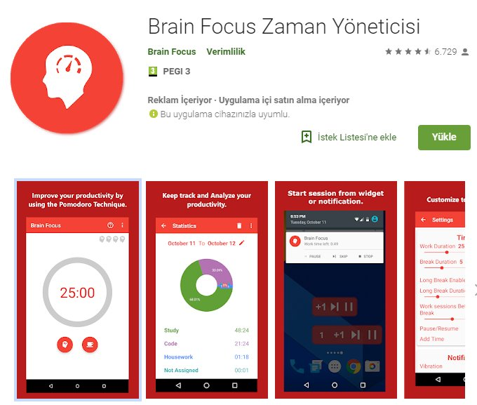 Brain Focus - Zaman Yöneticisi indir 4