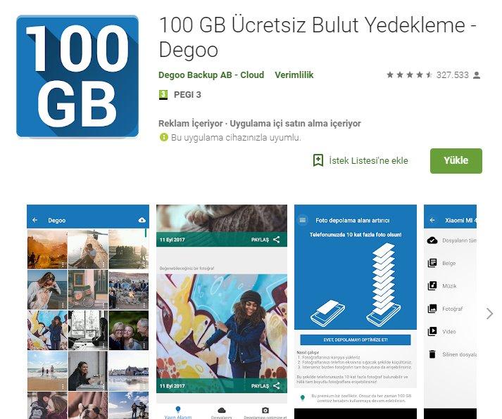 Degoo ile Android'de 100GB ücretsiz depolama alanı 4