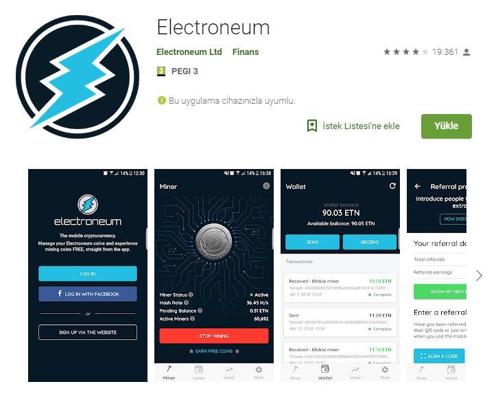 Electroneum ile telefonda madencilik nasıl yapılır? 7