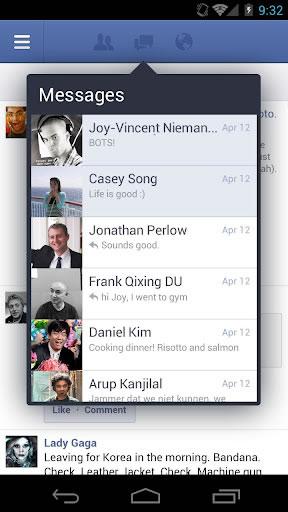 Android için Facebook 1.9.6 uygulaması 7