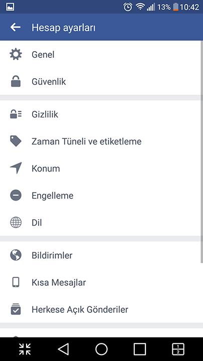 Android'de Facebook hesabı nasıl dondurulur? 8