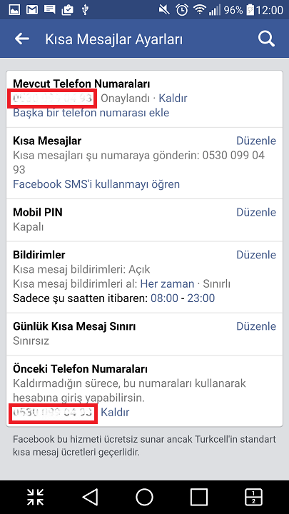 Facebook'ta telefon numarası kaldırma nasıl yapılır? 12
