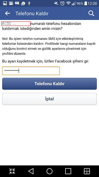 Facebook'ta telefon numarası kaldırma nasıl yapılır? 13