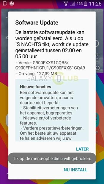 Galaxy S5 için güncelleme paketi yayınlandı 4