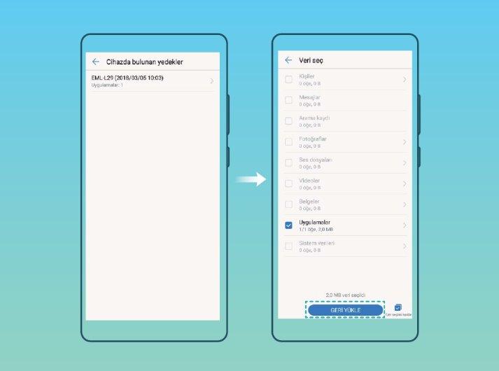 Huawei P20 modellerinde yedekleme ve geri yükleme nasıl yapılır? 2