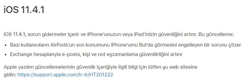 iPhone ve iPad için iOS 11.4.1 indir (IPSW İndirme Linkleri) 4