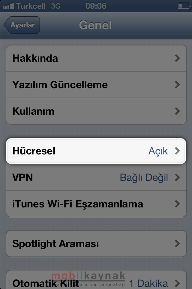 iphone-4s-internet ayari-mobilkaynak