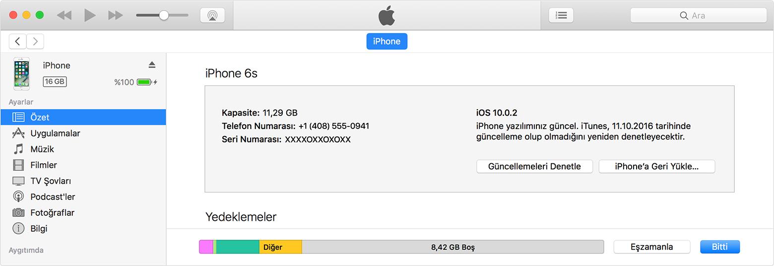 iPhone 7 yazılım güncellemesi nasıl yapılır? 8