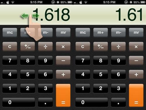 hesap makinesinden sonra rakamı silme