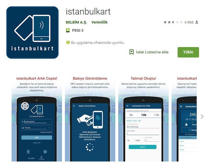 İstanbulkart mobil uygulama indir 4