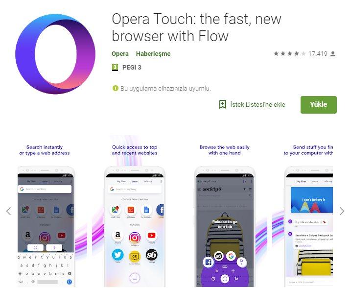 Opera Touch indir 4