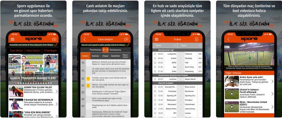 Sporx Spor Haber & Canlı Skor indir 4