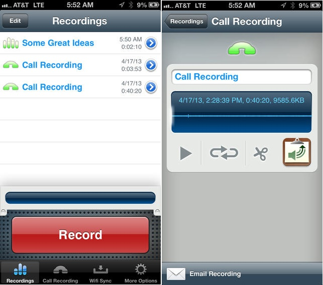 iPhone'da görüşmeler nasıl kayıt altına alınır