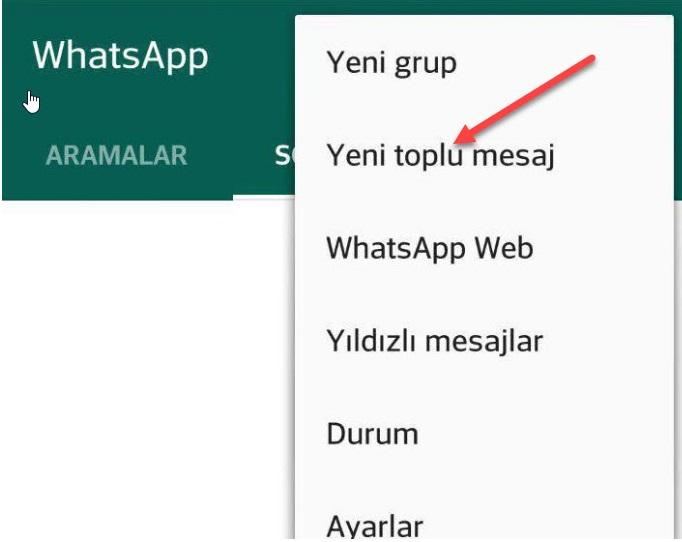 Whatsapp'ta toplu mesaj gönderme nasıl yapılır? 4