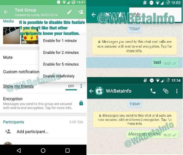 Whatsapp yeni özelliklerle geliyor (Mesajı Geri Alma) 1