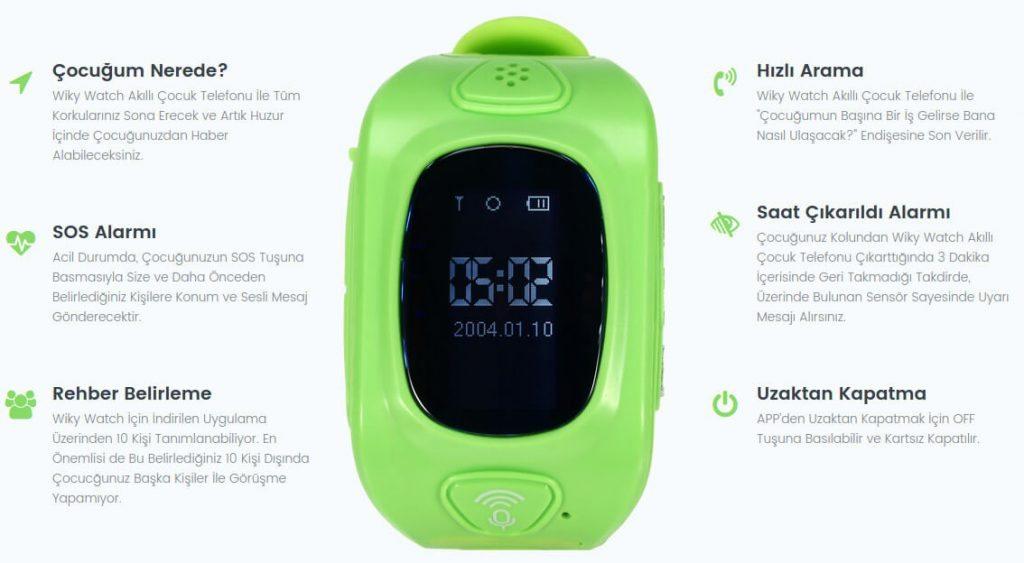 Wiky akıllı saat özellikleri ve fiyatı - Çocuk Güvenliği 4