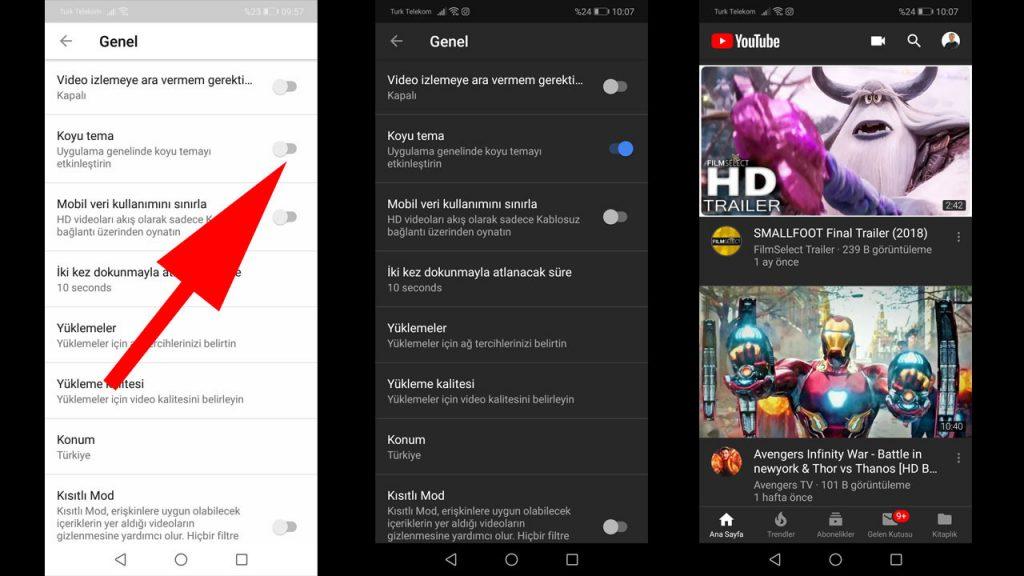 Youtube Koyu Tema/ Gece Modu nasıl açılır? 8